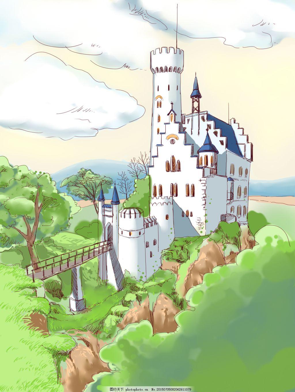 手绘森林城堡