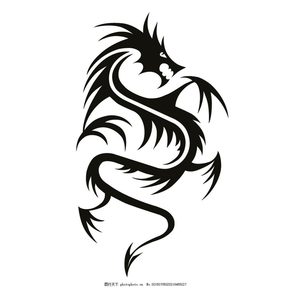 龙纹 中国龙 传统图案 装饰图案 纹身 中式花纹 图腾 中国元素 东方