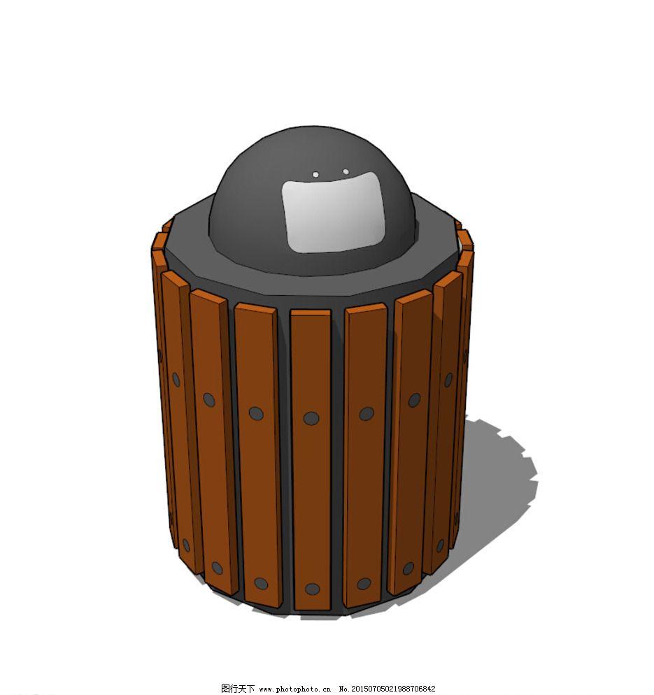 垃圾桶图片_建筑模型_3d设计