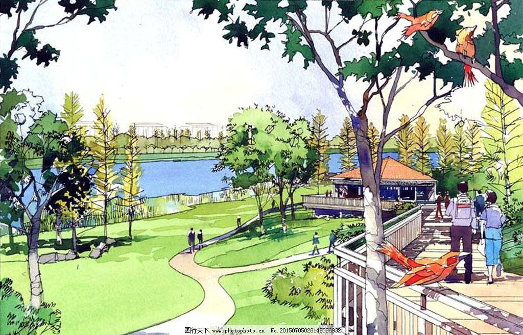 手绘效果图 手绘图        城市设计 规划设计 景观设计 景观手绘