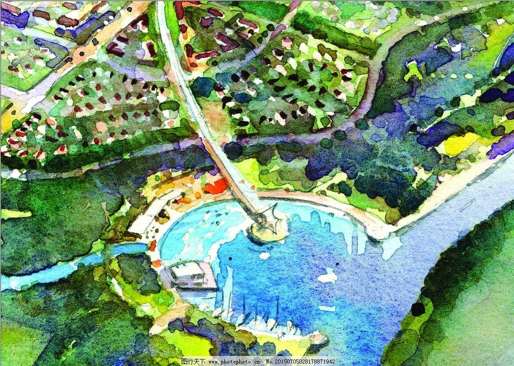 景观手绘 手绘设计 社区设计 场地设计 景观表现 原创作品 设计 环境