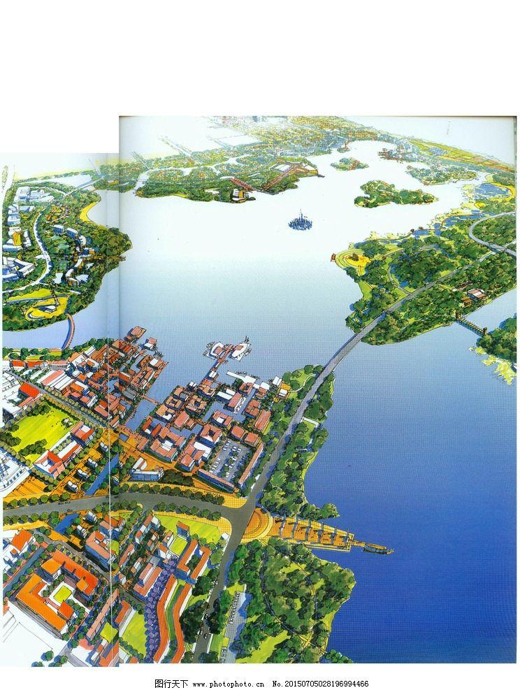 手绘城市滨水景观设计图片