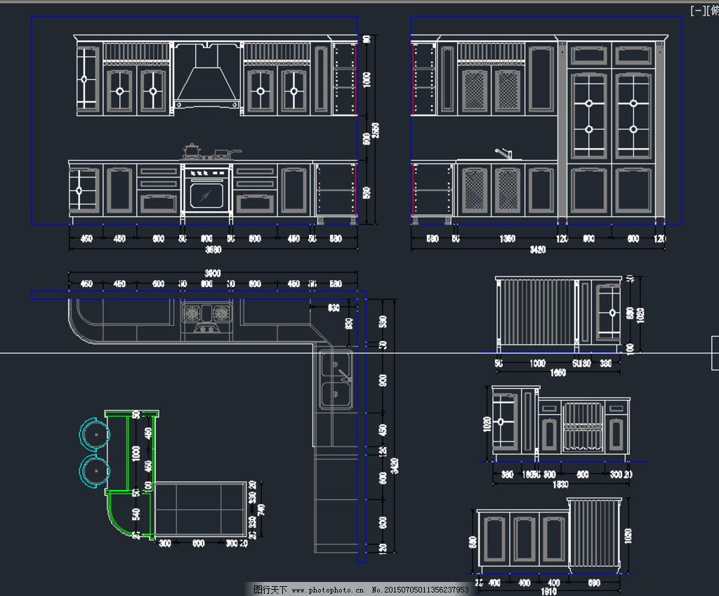 展厅实木橱柜设计图片