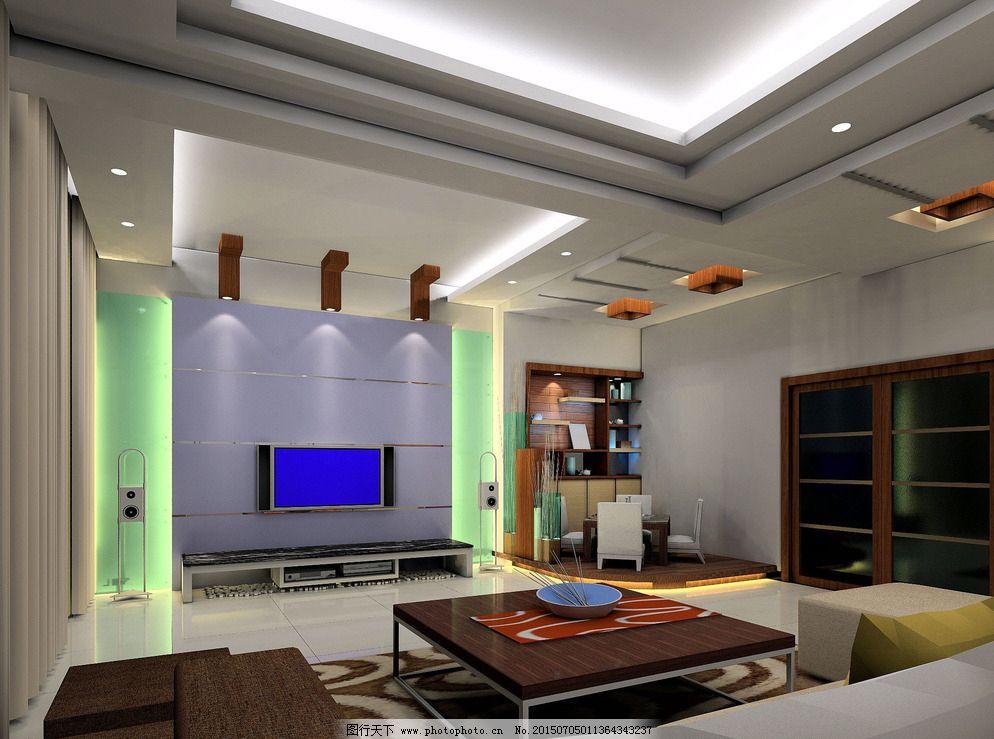 高清效果图 客厅 电视墙 天花餐厅 墙面装饰 吊顶 大厅 别墅 豪华