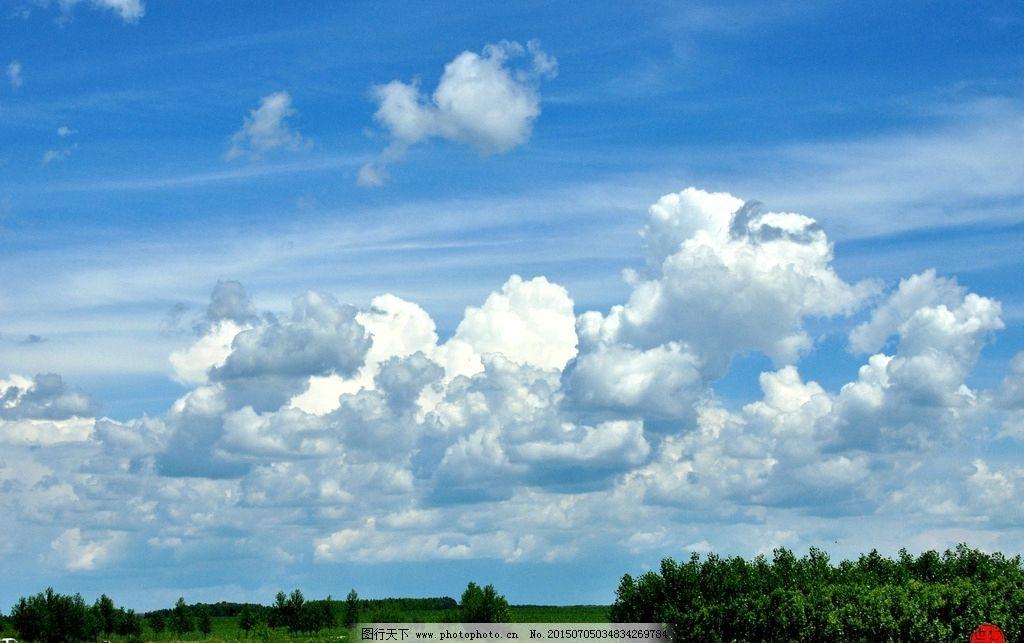 蓝天 白云 大地 庄稼 绿树 蓝天白云 七 摄影 自然景观 自然风景 96dp