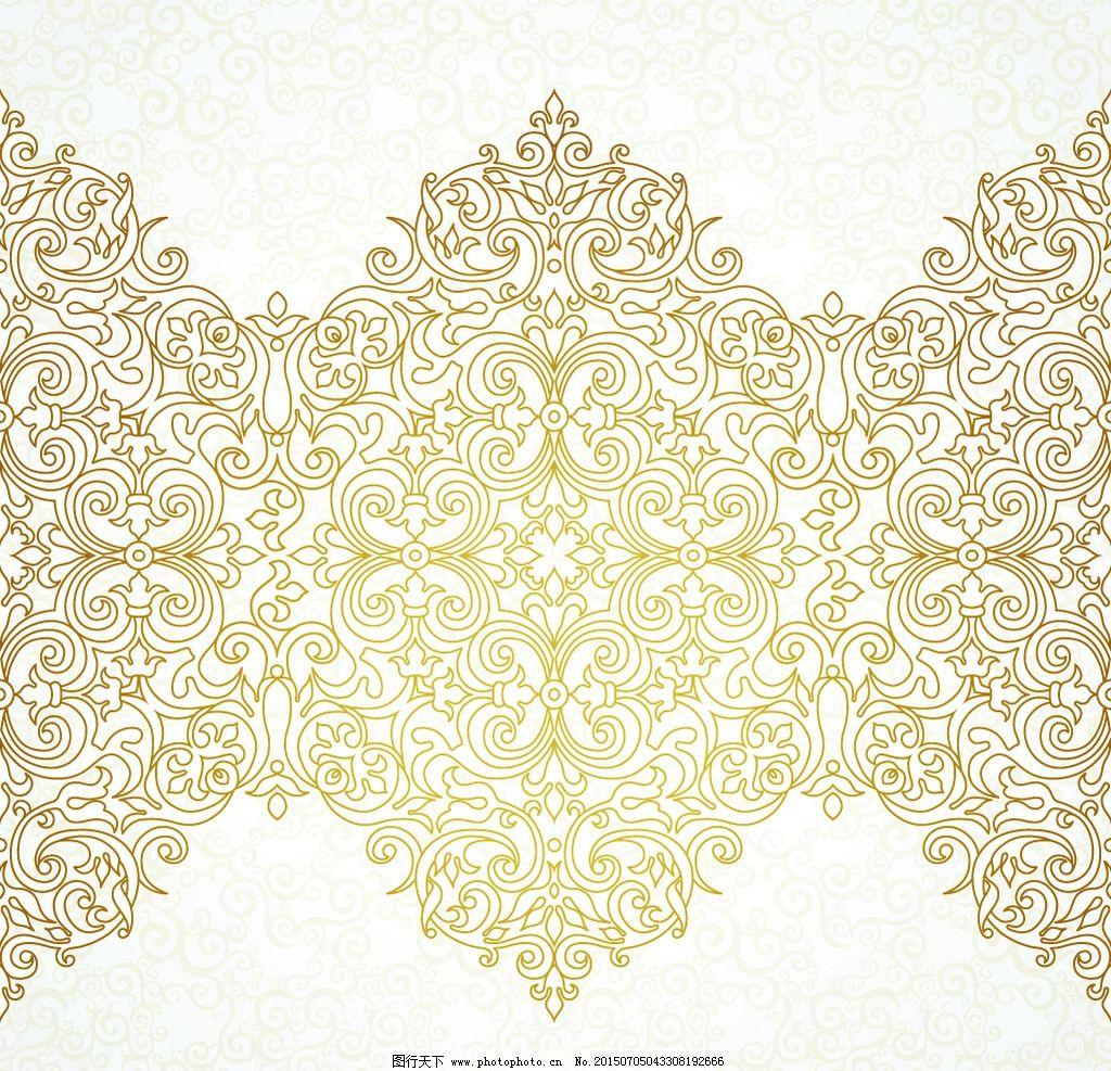 插图 手绘花纹 传统花纹 时尚花纹 设计 矢量 eps 设计 底纹边框 背景