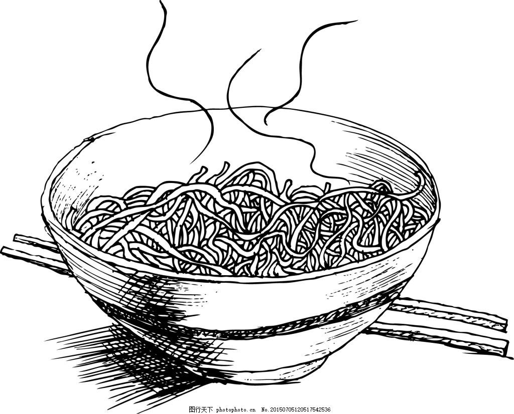 土面手绘 面食 纯色 碗筷 粗粮 白色