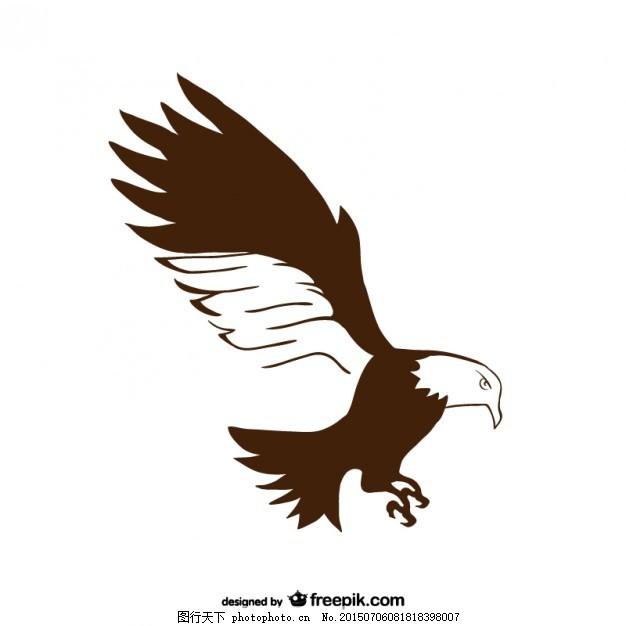 平原手绘鹰矢量 自然 动物 手画 素描 绘画 图纸 白色