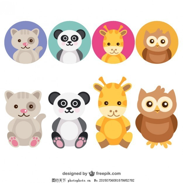 可爱的动物头像集