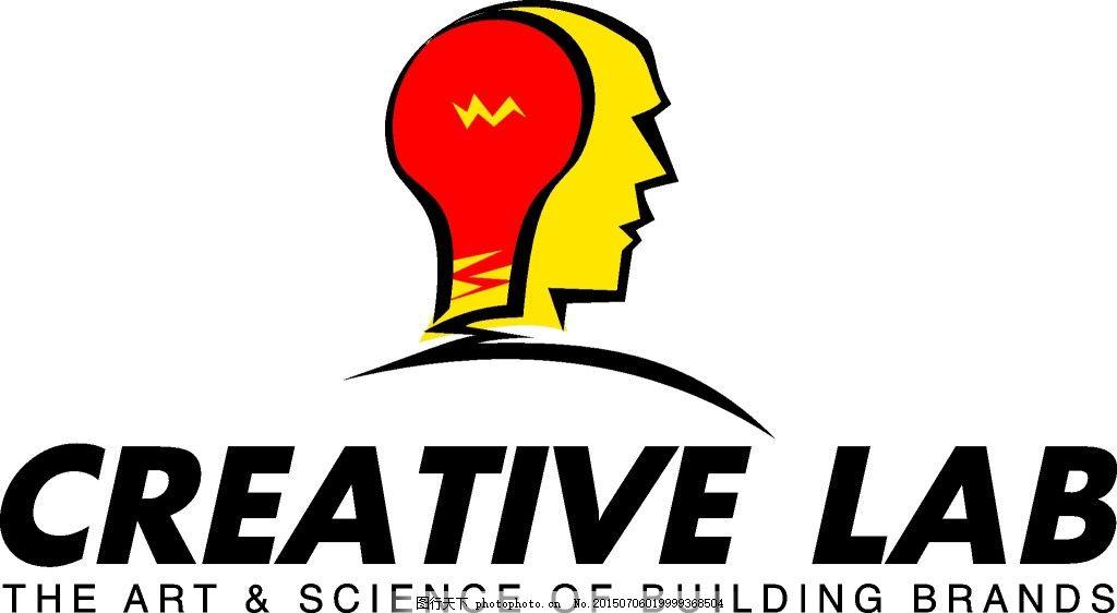 电灯泡头脑国外个性logo元素设计 国外个性logo元素设计矢量素材 个性