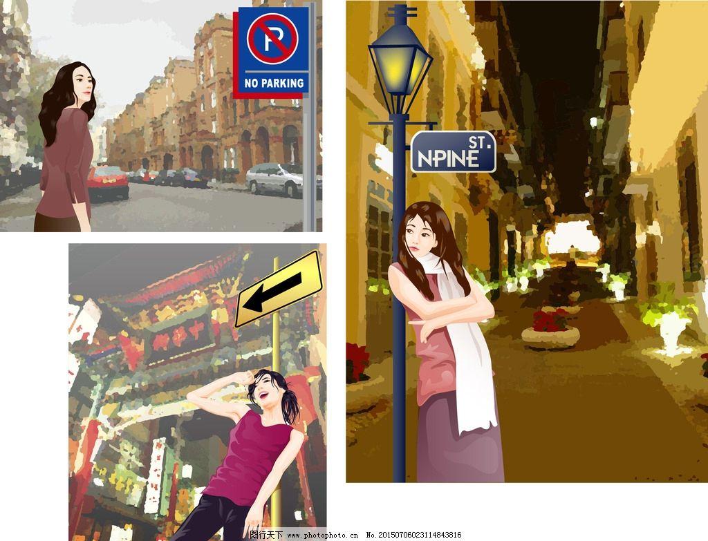 街景生活人物图片