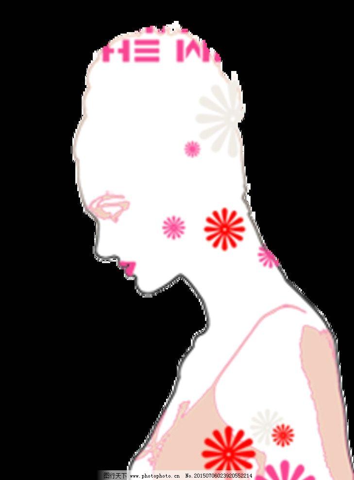 卡通线描女人 卡通女人 可爱线描人物 设计 动漫动画 动漫人物 cg插画