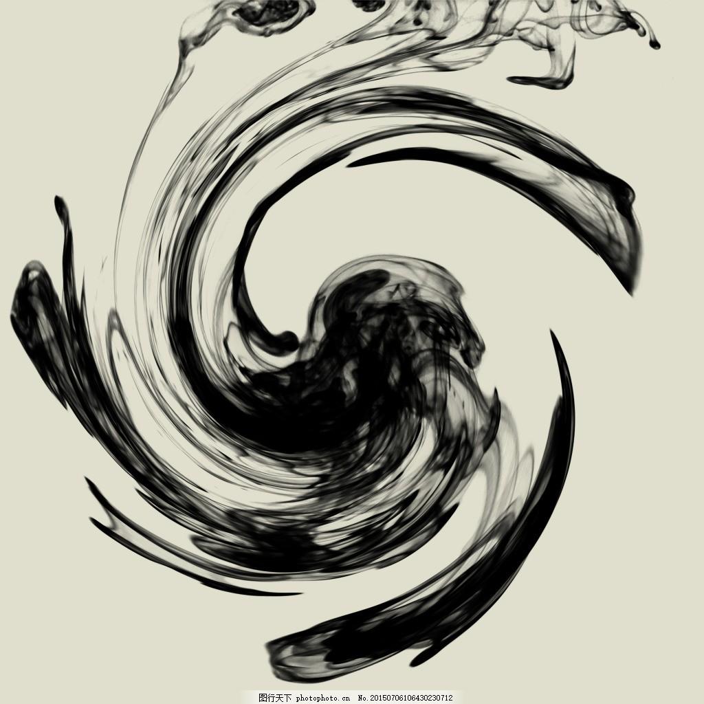 中国风装饰画芯黑白画