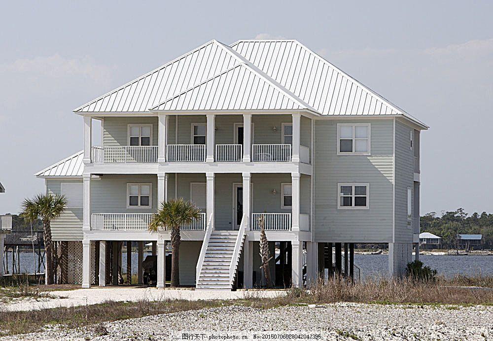 海边别墅摄影 房屋别墅 高端建筑 房屋建筑 房子 室外 住家 楼房