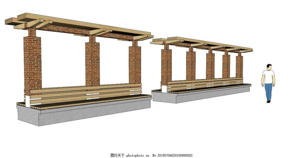 园林花架 廊架 园林素材 园林景观 景观素材 方形廊架 欧式 方形欧式