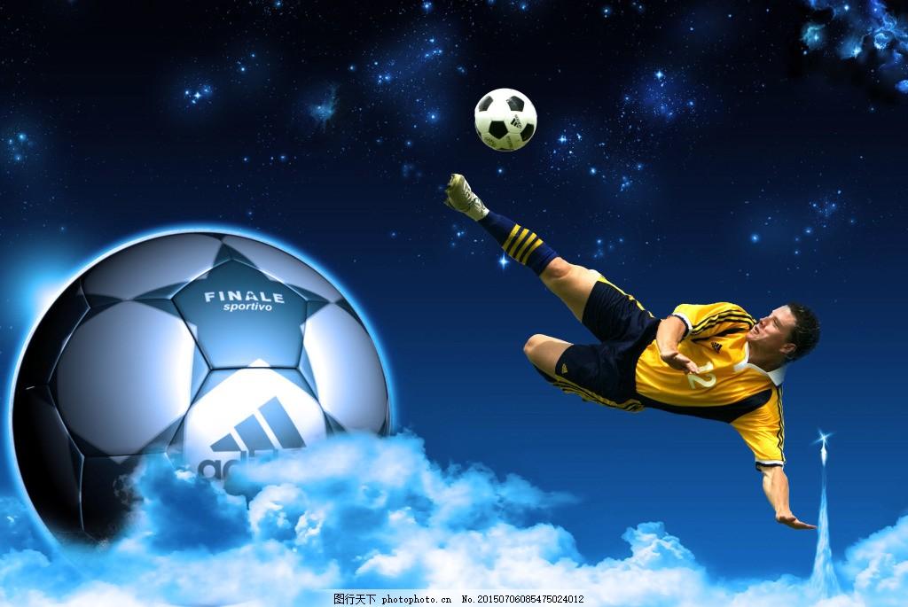 梦幻海报设计 科比 足球 星空 平面设计 黑色图片