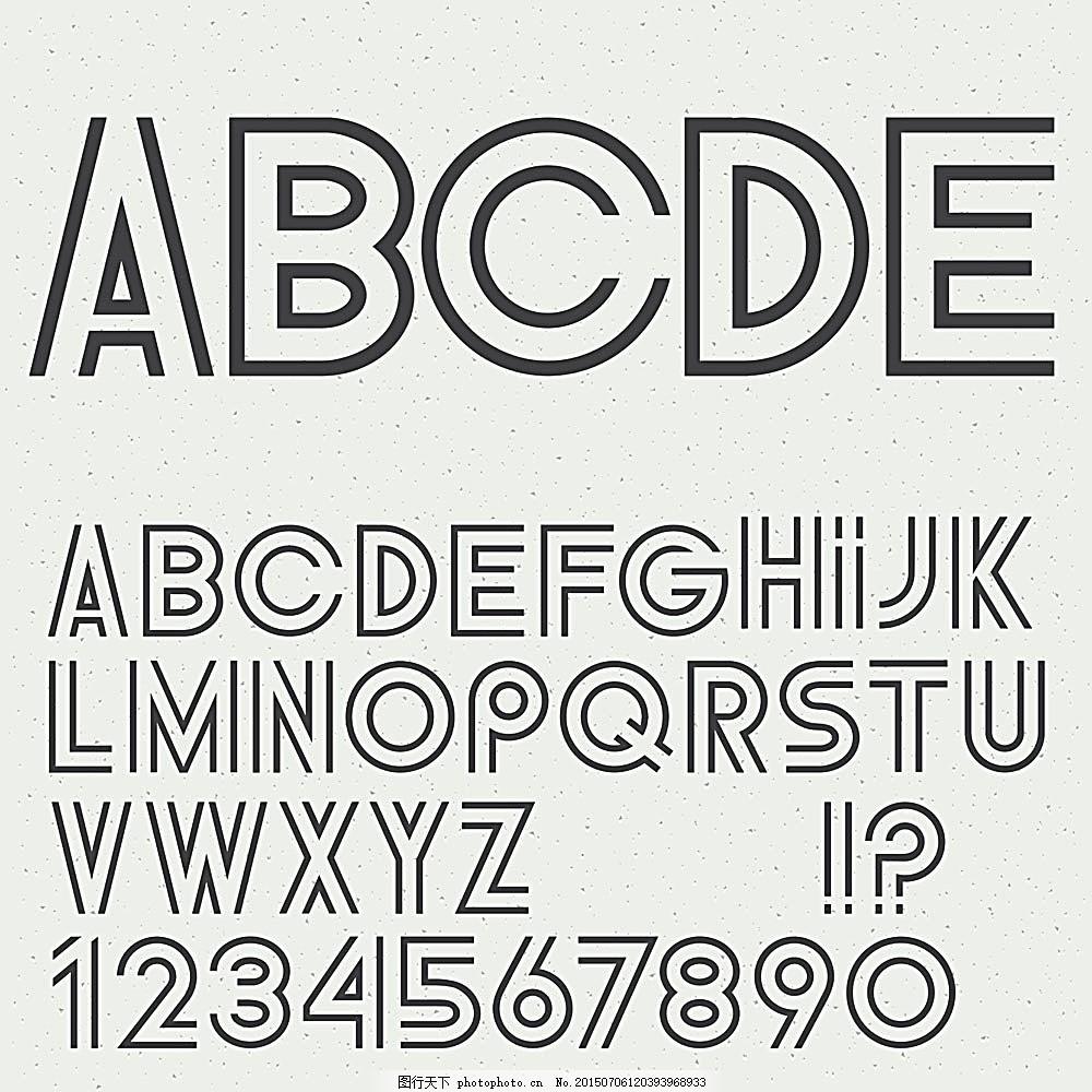 空心字体字母数字 数字字体 空心字 英文字母 英文字体 英文艺术字 书图片