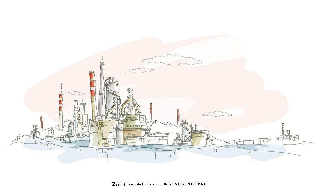 手绘城市 手绘 手绘城镇 手绘风景 手绘图 世界城市 城市风光 设计 文