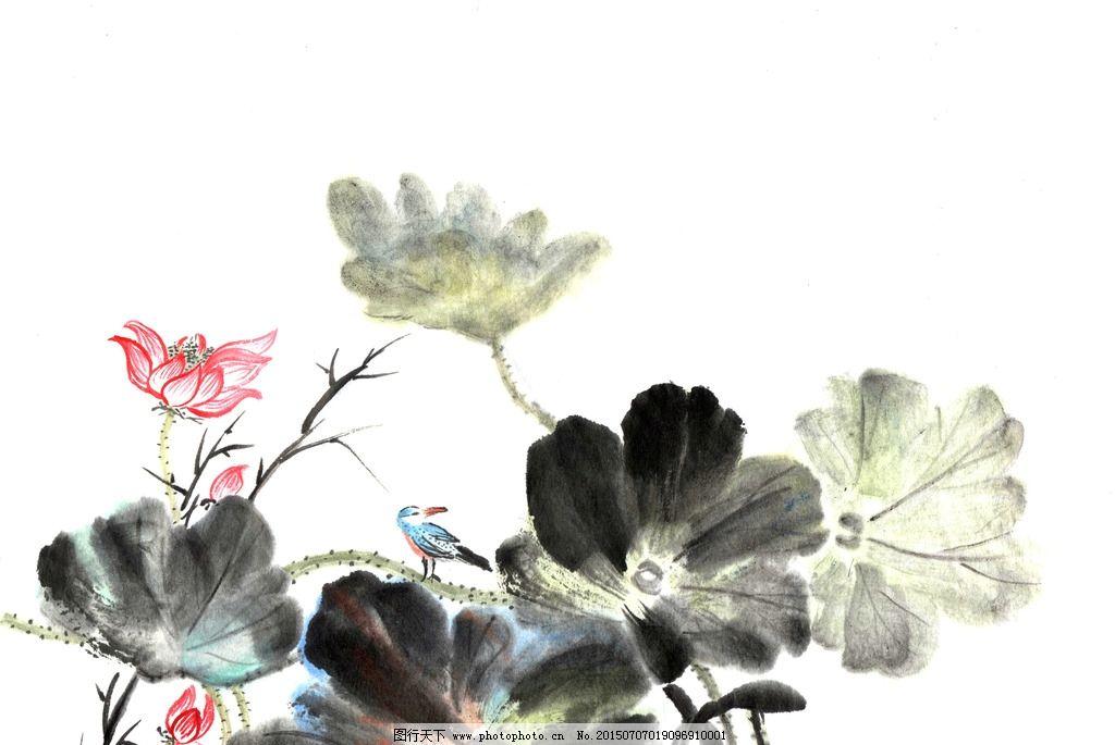 中国画 中国 传统 绘画 花卉 荷花 设计 文化艺术 绘画书法 600dpi jp