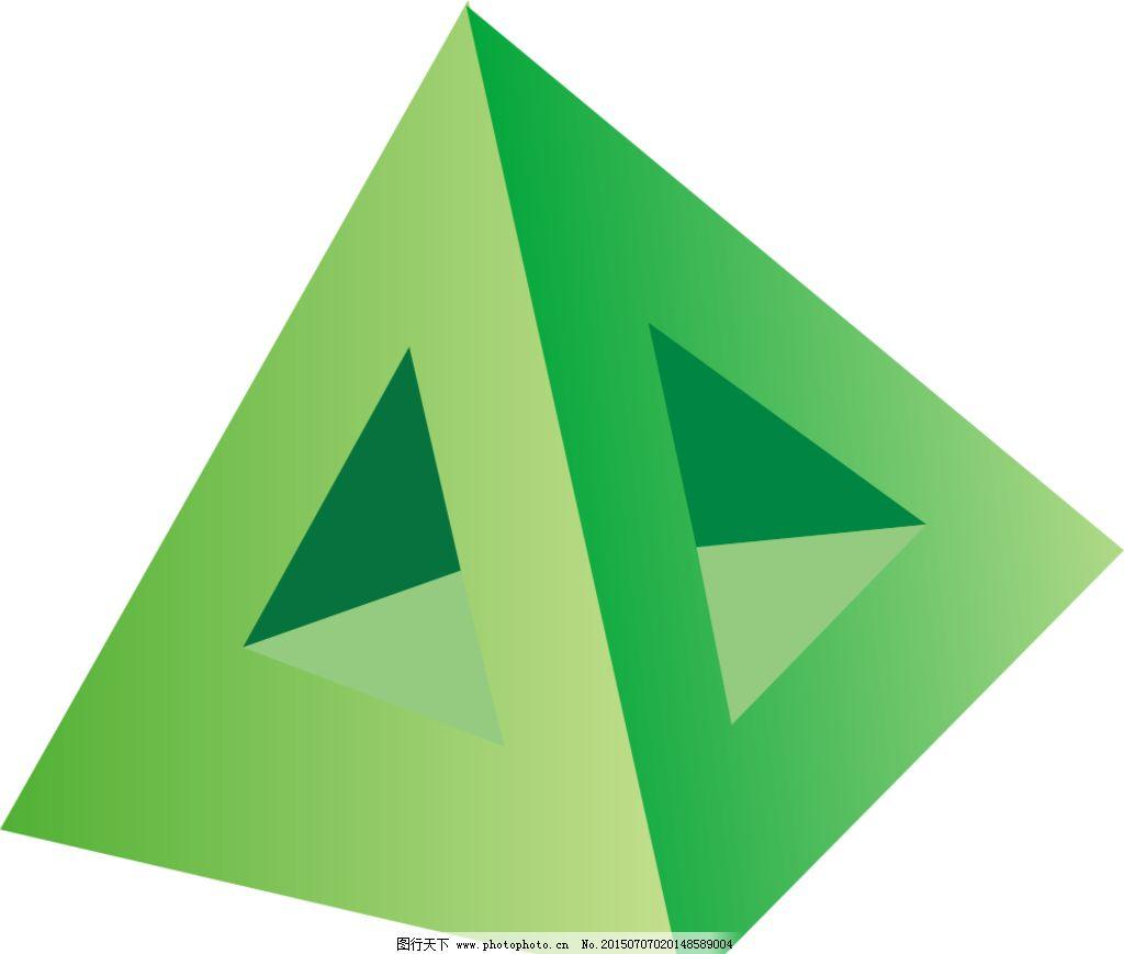立体三角塔图片