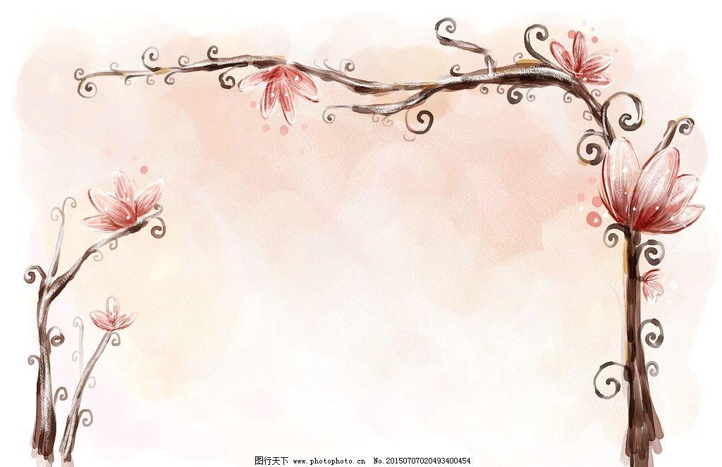 海报招贴 户外广告 包装画册 手绘水彩 花卉 版面展板 花边插画 绿植
