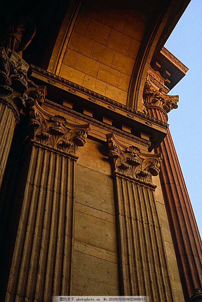 罗马柱建筑 国外建筑 欧式建筑 建筑物 古典建筑 石柱 柱子 罗马柱