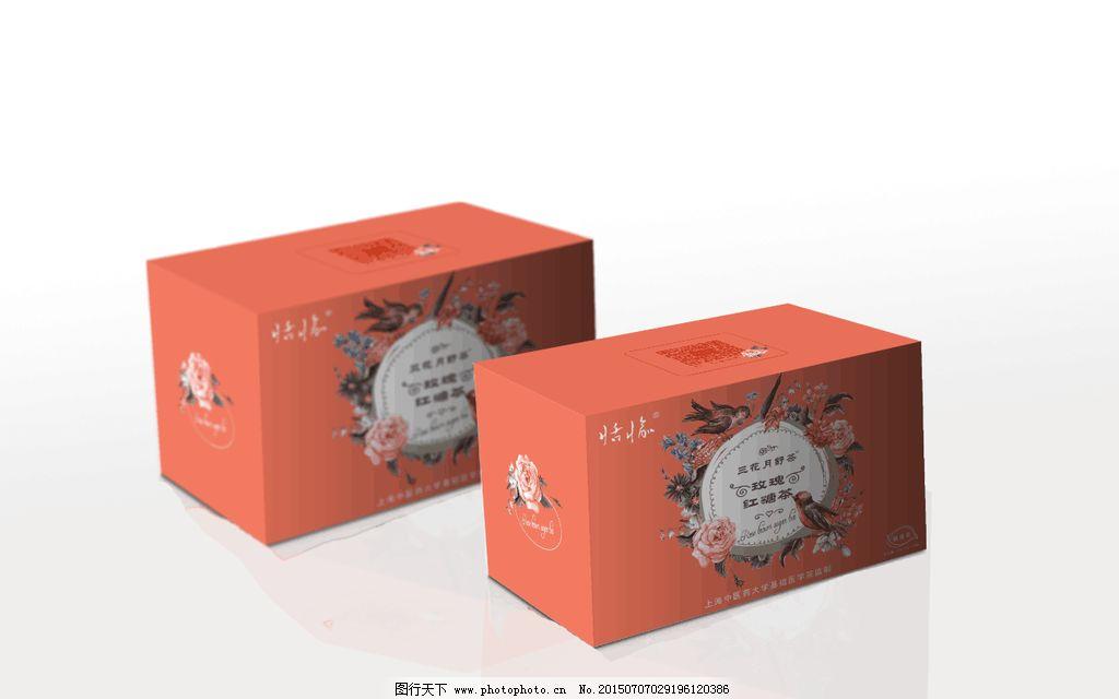 花茶 玫瑰花茶 花茶包装 茶包装 包装 花 手绘花 水彩花素材 设计