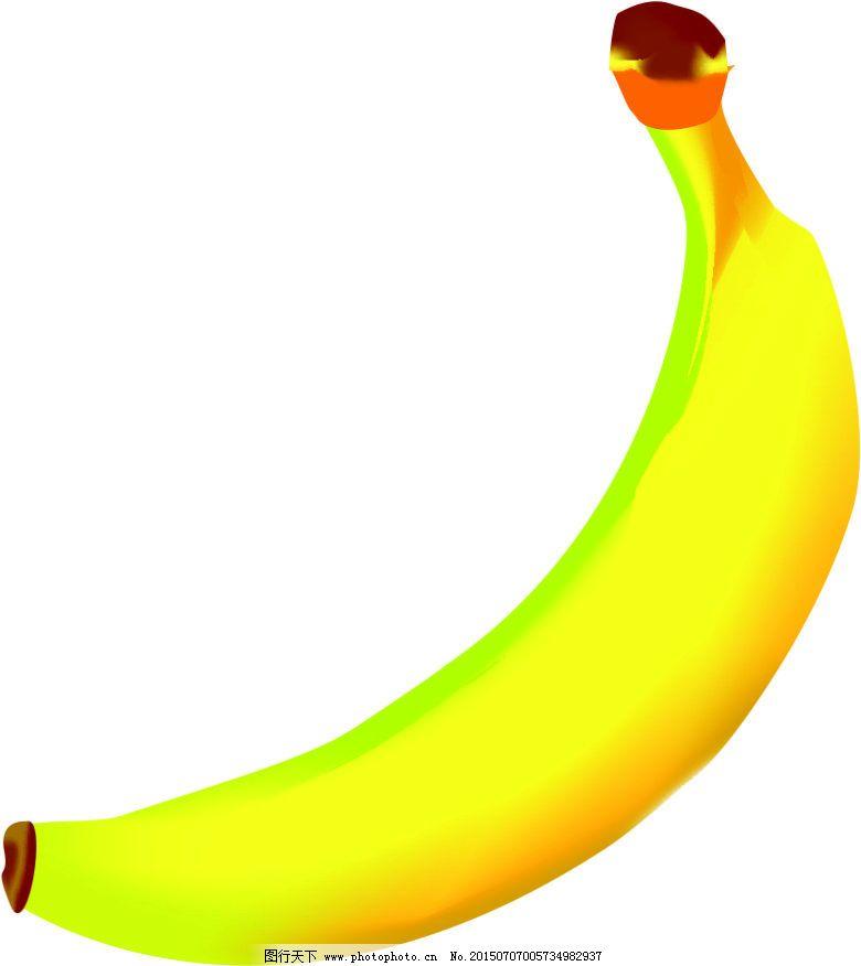 矢量图香蕉黄色卡通