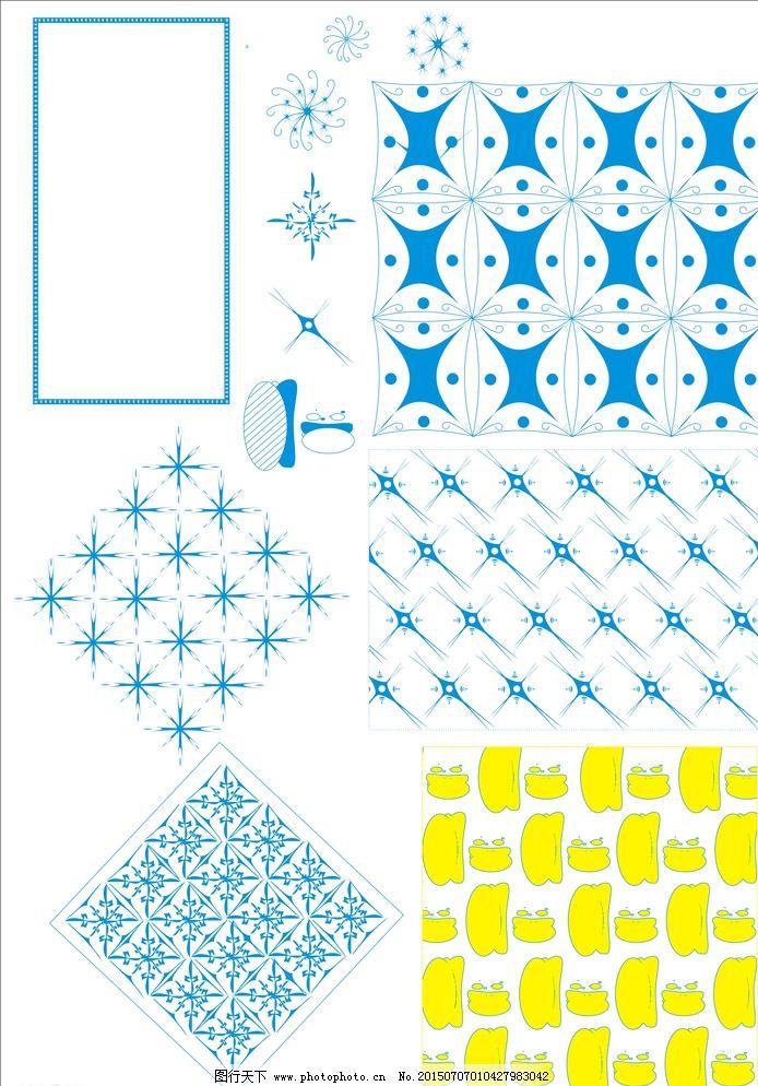 边框 纹样 背景底纹 传统纹样 广告设计 几何底纹 文化艺术 雪花