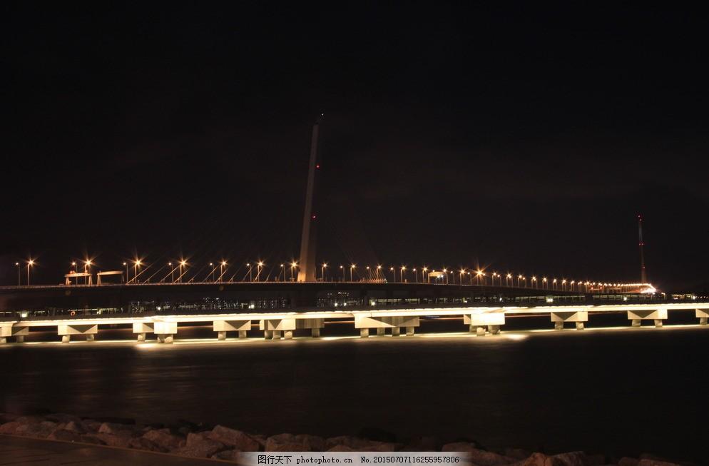 大桥夜景 深圳湾夜景 灯光夜景 霓虹灯 跨海大桥 摄影 旅游摄影