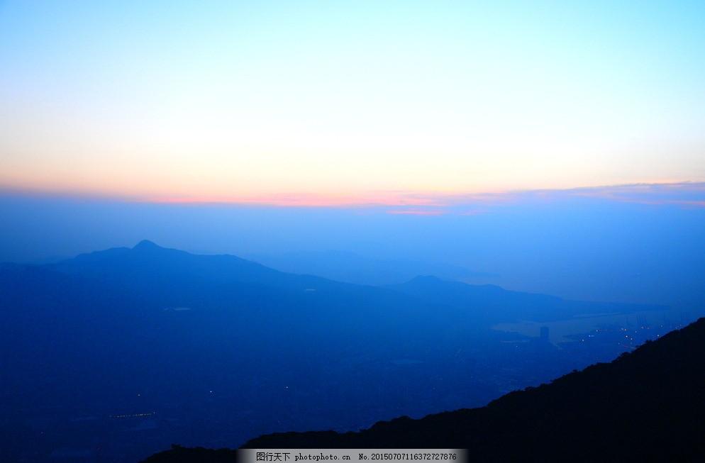 梧桐山日出图片