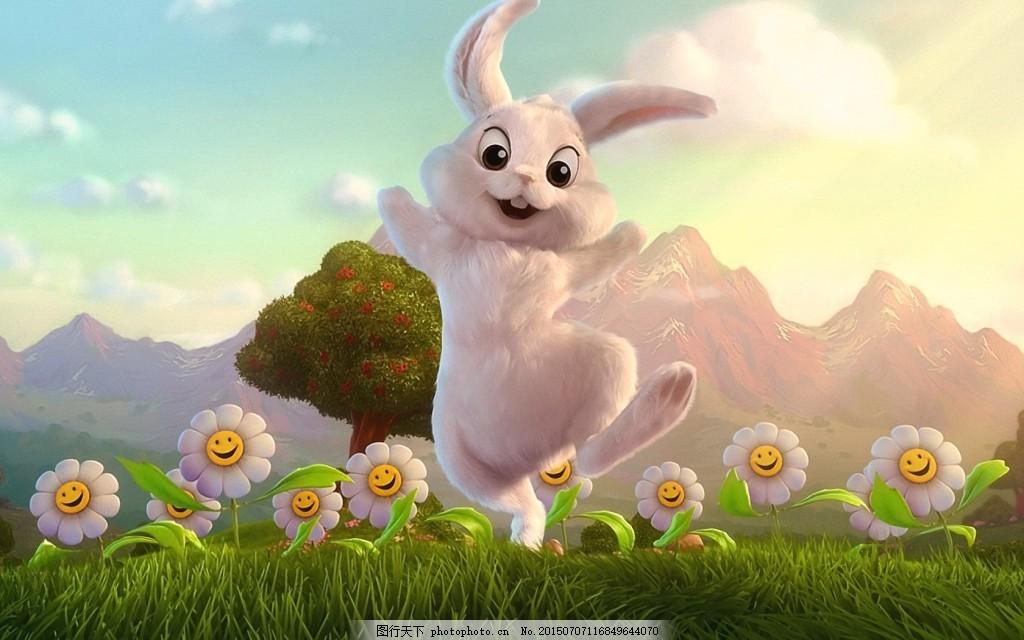 可爱卡通手绘兔子