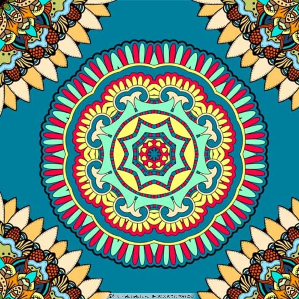 矢量素材 喷墨花纹 灰度线花 设计 底纹边框 花边花纹 ai 花纹 青色