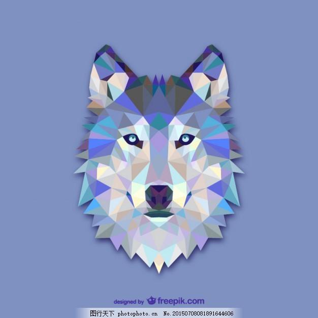 设计 几何 三角 动物 狼 创意 装饰 多边形 插图 三角形 三角形的动物