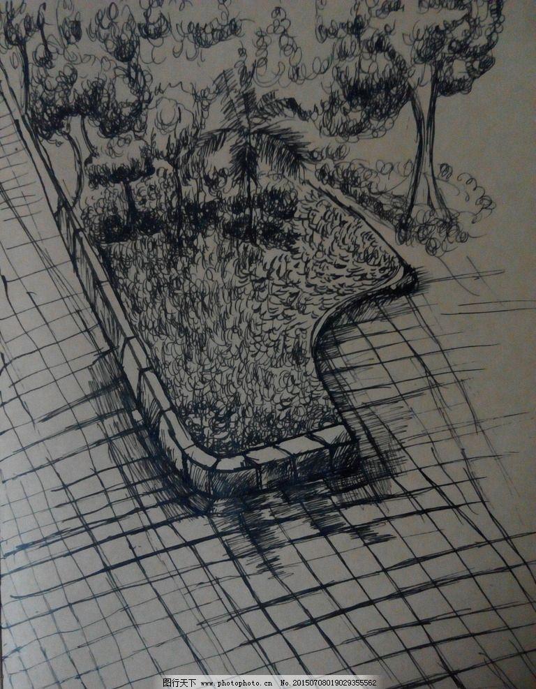 手绘 场景 素描 绘画 速写
