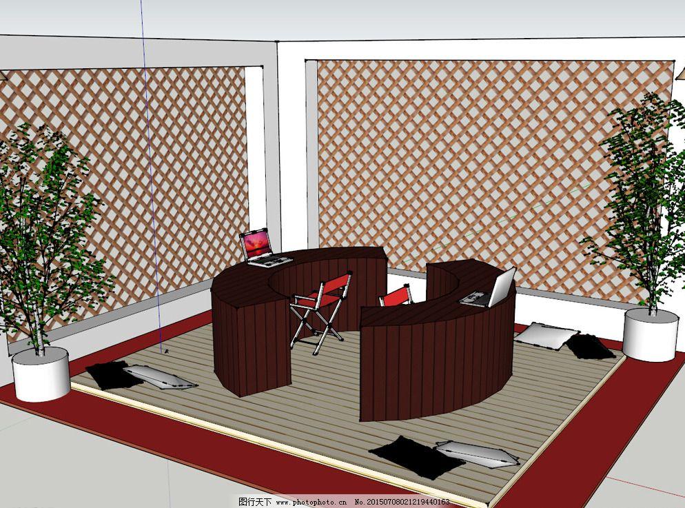 中式客厅图片_室内模型_3d设计_图行天下图库