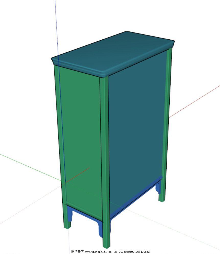 中式柜图片_室内模型_3d设计_图行天下图库