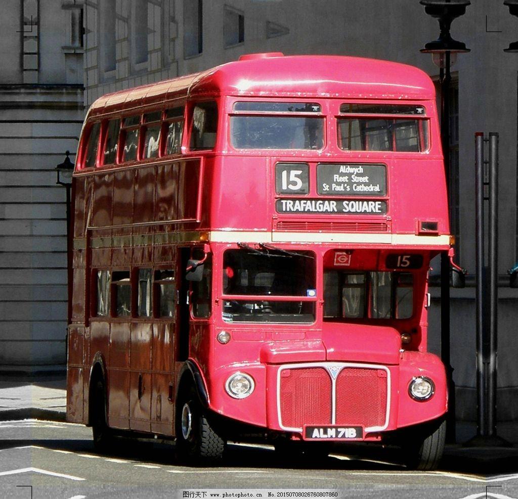 复古 英伦 公交车 英国图片