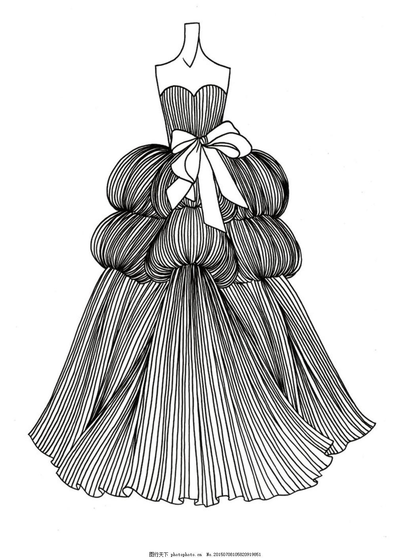 婚纱设计 长裙 裙子 服装 蝴