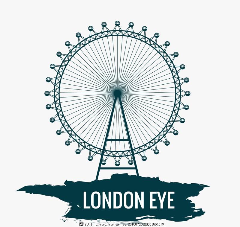 建筑 伦敦 摩天轮 ai 白色 ai