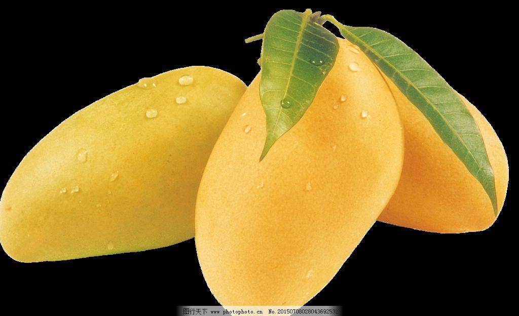 小清新可爱平铺芒果