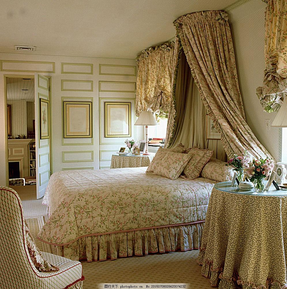 欧式卧室装修设计 室内装饰设计 室内装潢 室内设计效果图 欧式风格