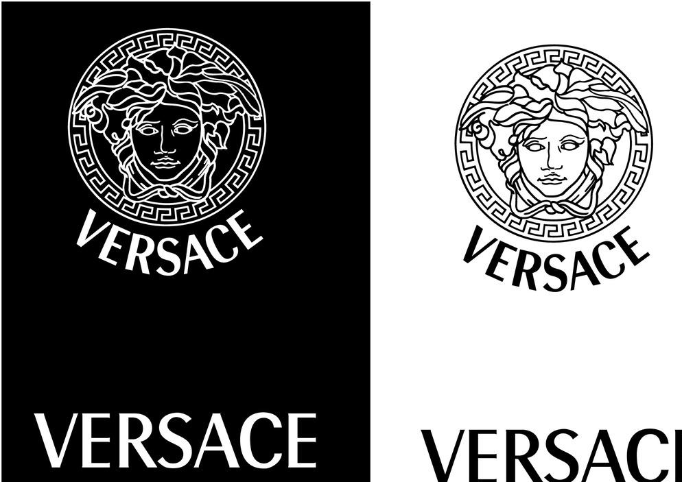 印花图案 范思哲 logo 奢侈 名品 国际品牌 versace 印花图案 线描