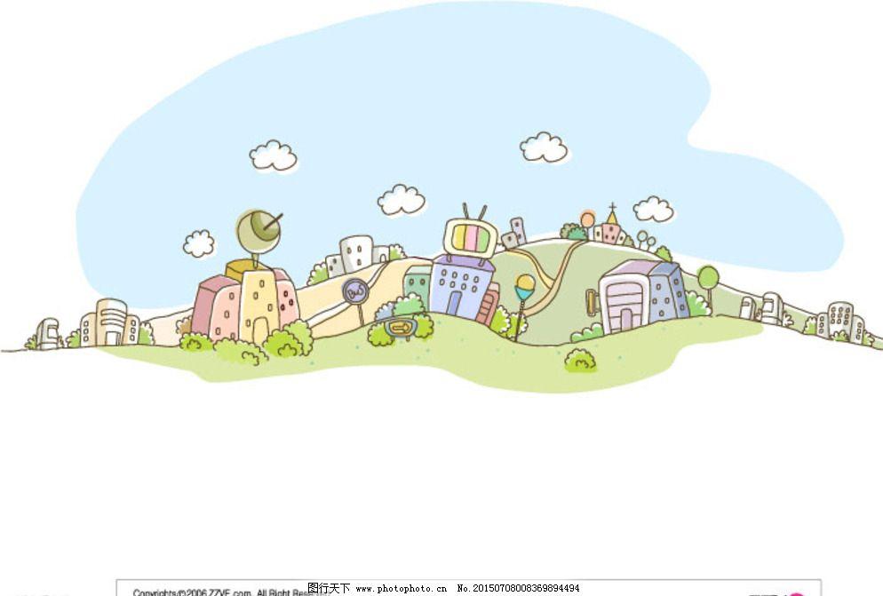 韩国卡通矢量背景图片