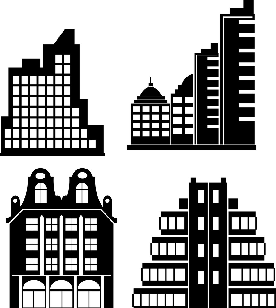 教堂 剪影 建筑 黑白 城市 城市建筑 城市建筑剪影 建筑剪影 楼房剪影