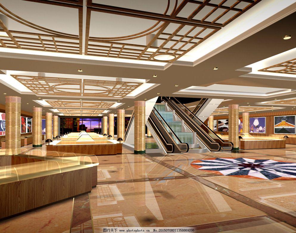地砖 电梯 环境设计 建筑设计 金碧辉煌 商业建筑 设计 室内效果图