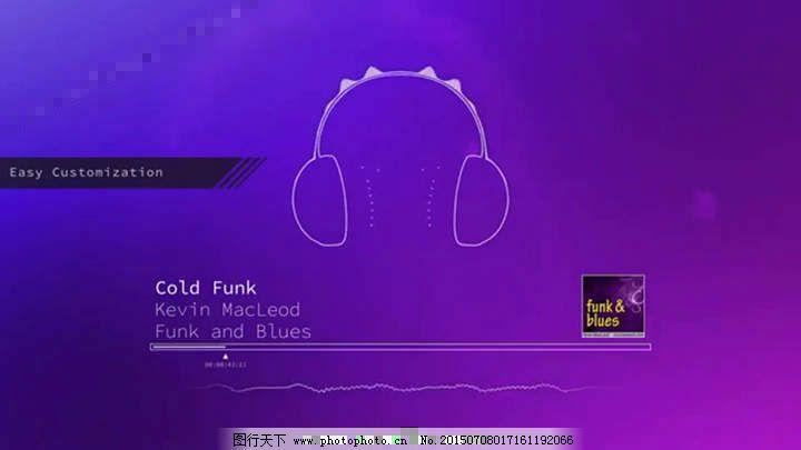 音乐播放器音频波形可视化ae源文件