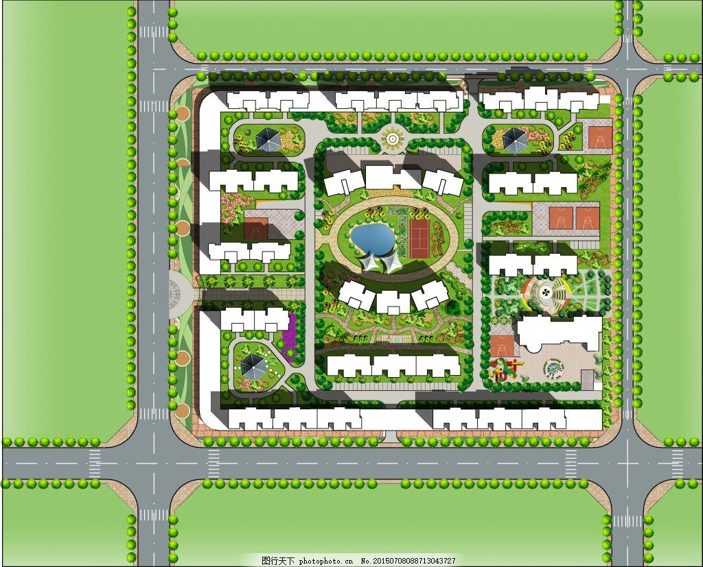 居住区规划 总平面