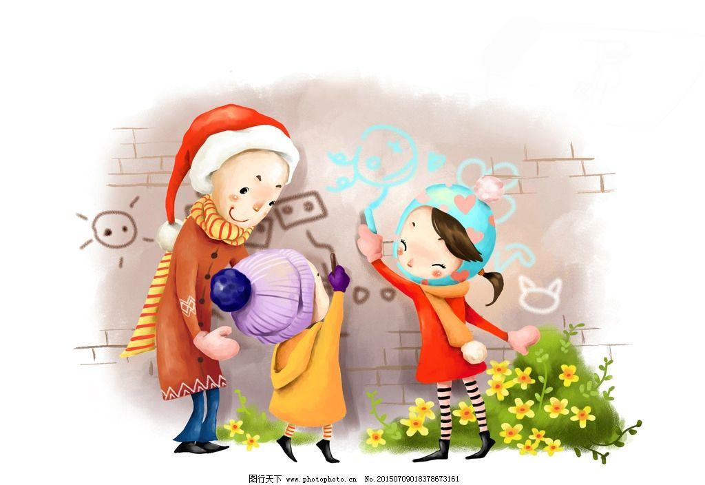 圣诞老人派礼物图片_动漫人物_动漫卡通_图行天下图库