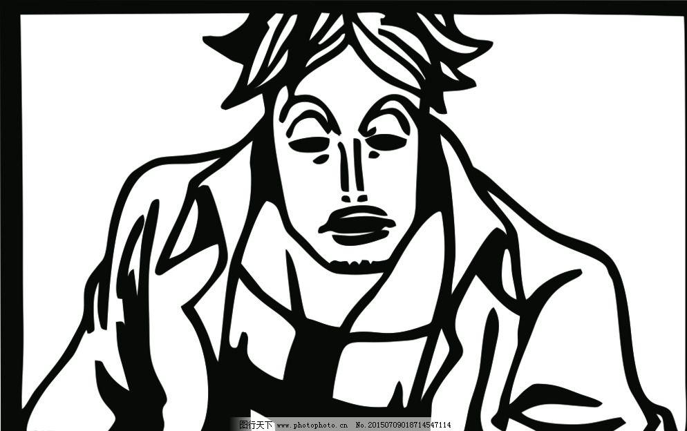 漫画 人物剪影 设计 动漫动画 动漫人物 cdr 图片素材 卡通|动漫|可爱